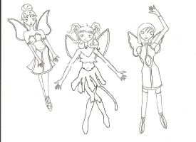 minor fairies sketch by cupcakedoll