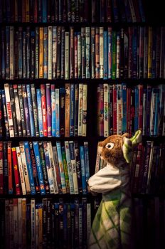 Little Amy and the Wall of Movies by foreverprairie