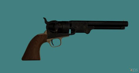 Navy Colt 1860 Revolver for XPS by Fuzzy-Moose