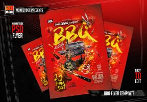 BBQ Flyer Template by AndyDreamm