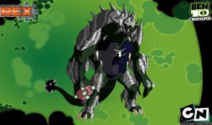 Ultimate Humungousaur Ben10K in Genrex Style by Kamran10000