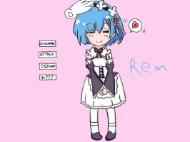 Rem chibi color by Drawmanex