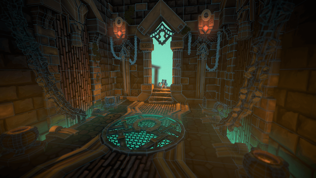 Stylized Sumerian temple by AlesRot