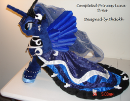 Completed Princess Luna Dress by The-Crafty-Kaiju