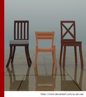 MMD - Wood Chairs pack 01 by Sy-Jei-Vee