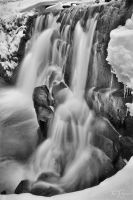 Winter Waterfall by Pajunen