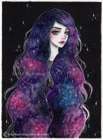 Day9 Inktober- Galaxy hair series 1/4 by ARiA-Illustration