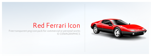 Red Ferrari Icon by cemagraphics