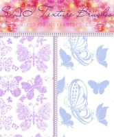 Butterfly Brushes for paint tool SAI by Coby17
