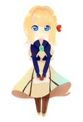 Chibi Violet Evergarden by FlanBow