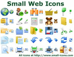 Small Web Icons by Iconoman