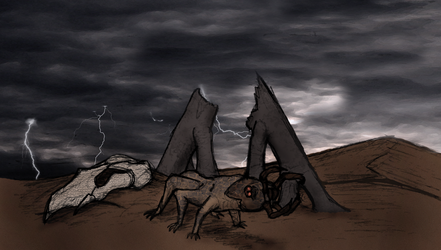 Cambrian Mars: the great fugarian mass extinction by Dragonthunders