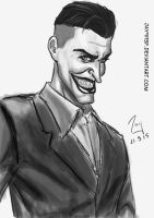 The Joker- B and W- Copic style- Digital by jay911sf