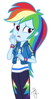 EQG Series - Unsure Rainbow Dash by ilaria122