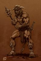 conan and weapon variation by bek76