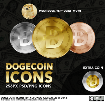 Dogecoin Icons by Alforata