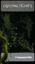 3D Creeping Plants by zememz