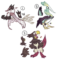 OPEN OTA Creature Adopts by TawnySoup