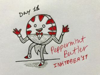 Inktober Day 11- Peppermint Butler by Revenir-Ghoul