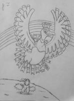 Pokemon Drawings - Ho-Oh by joshbluemacaw
