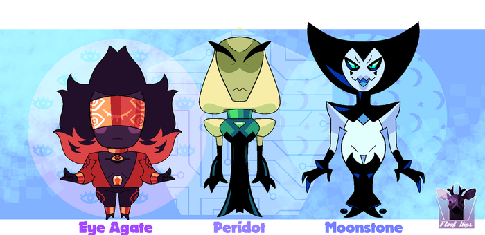 A:.Small Gem adopts!! by FloofHips