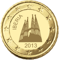 Iberian coin 10 cent by hosmich