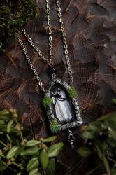 Forest Door Necklace, Gothic Portal Charm by Lavenderwitch