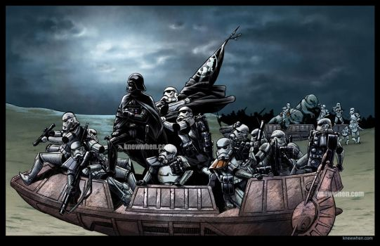 Vader Crossing the Delaware night variant by nguy0699