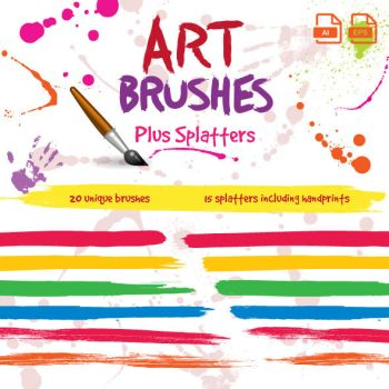 Paintbrush Art Brushes for Illustrator by JaneVision