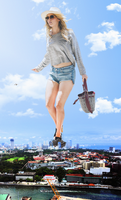 Giga Giantess Jennifer Lawarence by dochamps