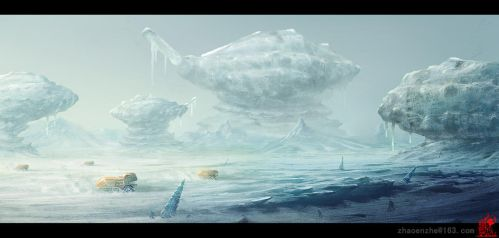 Shell frozen continent  by zhaoenzhe