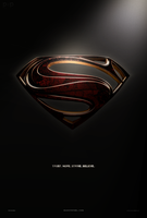 Man Of Steel - Alternate 'Shield' Fan Poster by P2Pproductions