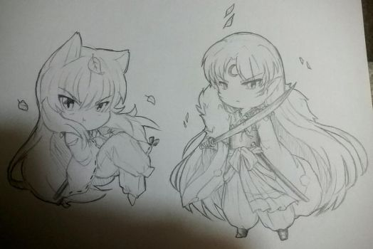 Feudal Chibis by beelzezlover