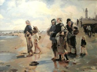 Oyster Collectors of Cancale (Master Copy) by Nvktia