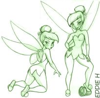 Two TinkerBells by EddieHolly
