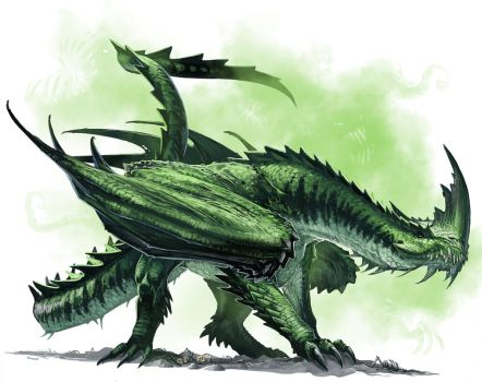 Ancient Green Dragon by BenWootten