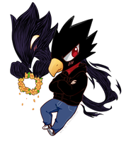 Comm 13: Tokoyami and Dark Shadow by Exelion-star