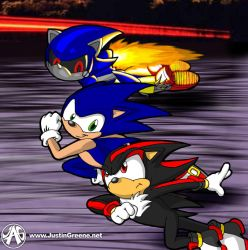 Sonic Race by JustinGreene