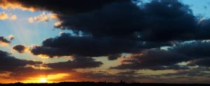 Cold Sunset Panorama by NickyG-Photography