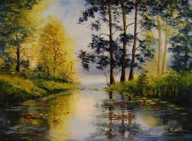Peaceful Pond by Kasia1989
