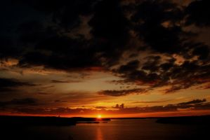 Sunset from Naantali by MarvinOs