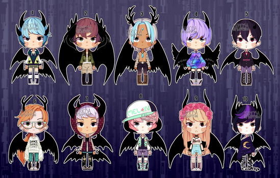 Set Price Winged Boys (closed) by Kariosa-Adopts