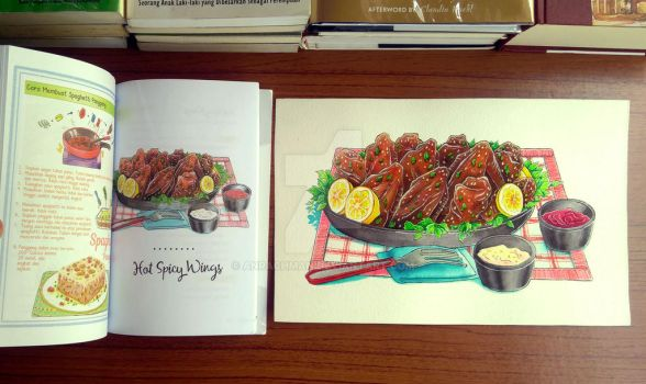 Spicy Hot Chicken Wing by Anrachman
