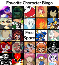Favorite Character Bingo by RaineOuShine