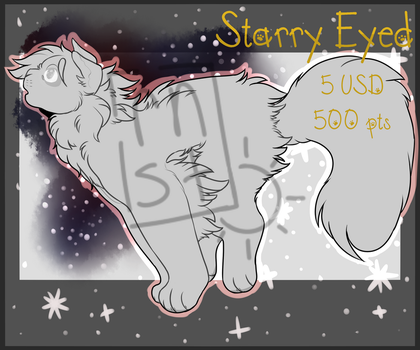 . P2U . Starry Eyed Lineart by rnorningstar-adopts