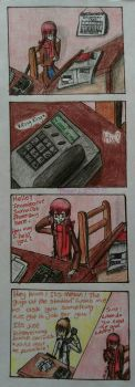 FNAF comic - Phone Guy's second job by PaigeLTS05