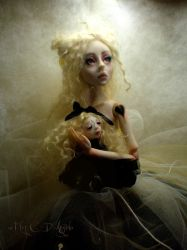 Creepy doll B Ball jointed by cdlitestudio