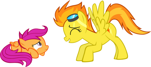 Spitfire and Scootaloo by KurosakiSoarin