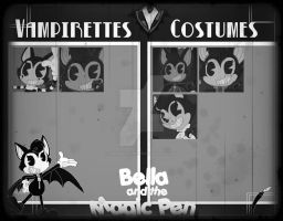 Costume Rumble-Bella and the Magic Pen-Inventory by PlayboyVampire