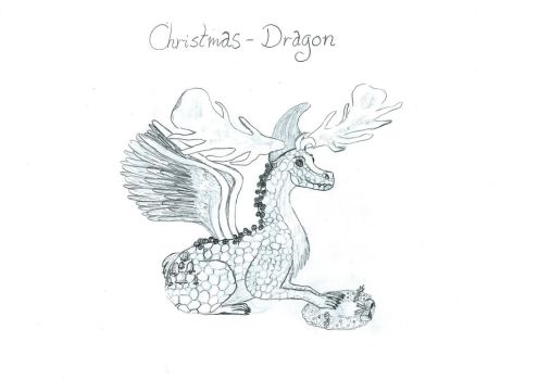 Christmas-Dragon by CYoma